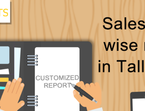 Salesperson wise reports in Tally.ERP9