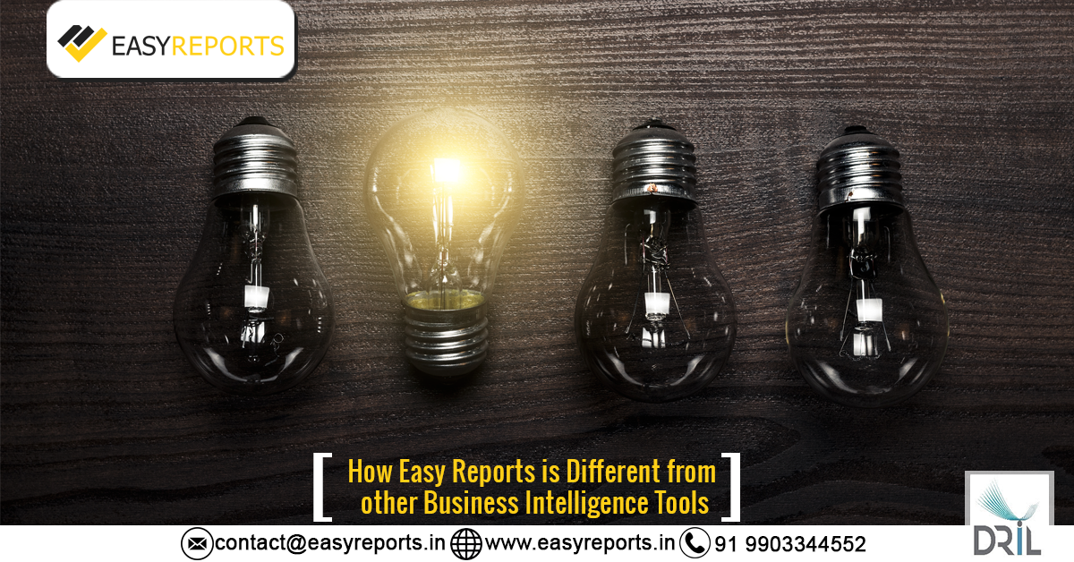 how easy reports is different from BI Tools