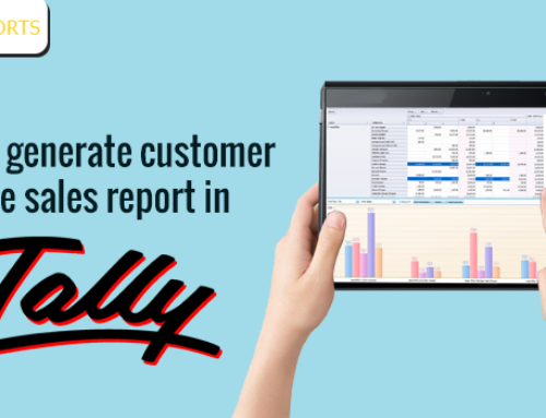 How to generate customer wise sales report in Tally