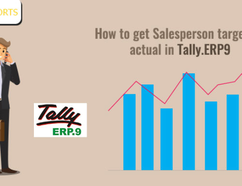 How to Get Salesperson Target vs. Actual in Tally.ERP9