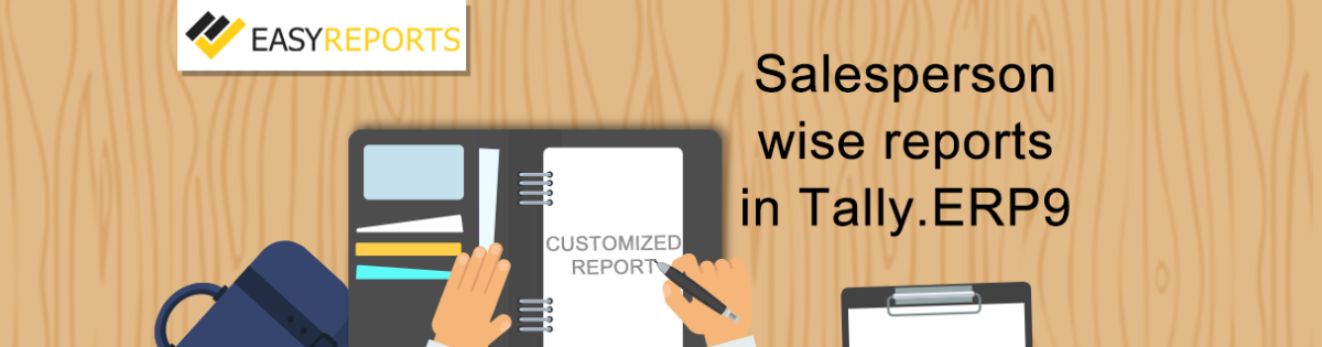 Salesperson wise reports in Tally ERP9