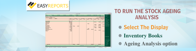 How to use Stock Ageing Analysis Report in Tally ERP9