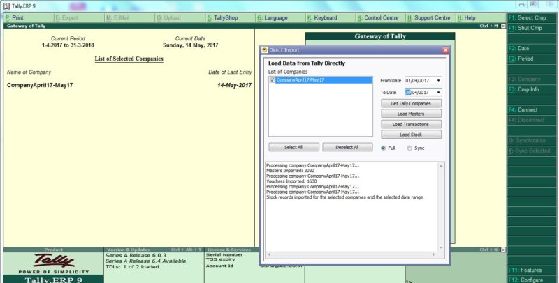 Tally Import to SQL