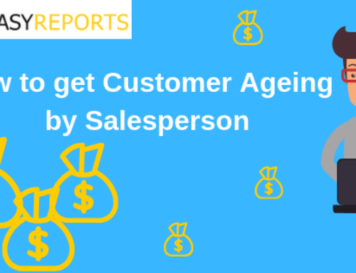 How to get Customer Ageing by Salesperson?