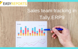 Sales team tracking in Tally.ERP9