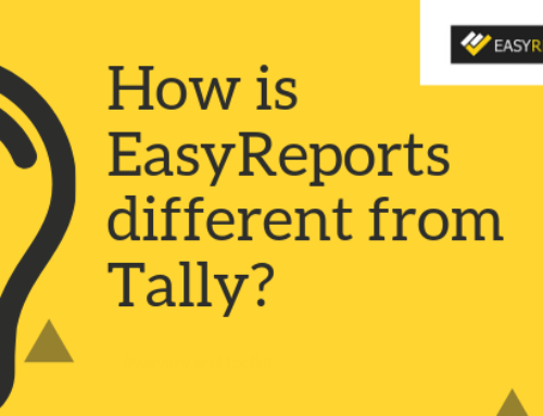 How is EasyReports different from that of Tally?